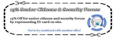 15% Off Senior Citizens Discount