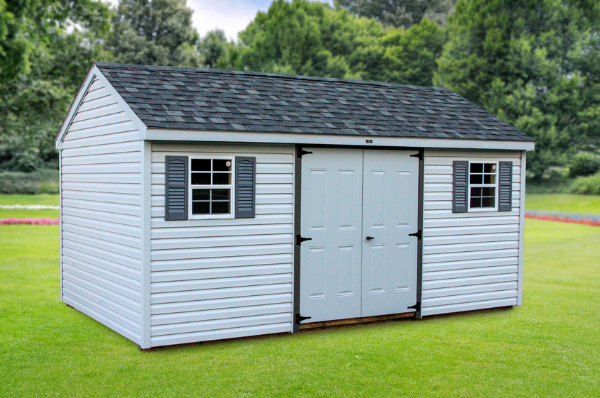 Shed In Backyard